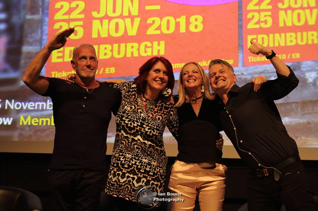 Richard Jobson, Fay Fife, Clare Grogan and Vic Galloway: Photo by Ian Bourn for Scene Sussex